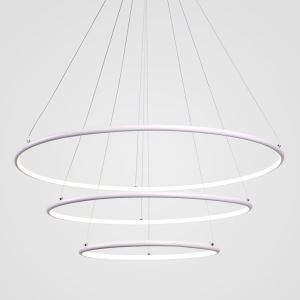 Modern 3 Rings Pendant Light Nordic Circle Pendant Light Living Room Bedroom Study Lighting