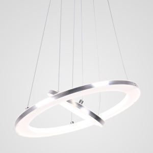 Nordic 2 Rings Pendant Light Modern LED Pendant Light Living Room Bedroom Study Simple Lighting