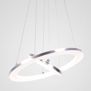 Nordic 2 Rings Pendant Light Modern LED Pendant Light Living Room Bedroom Study Simple Lighting