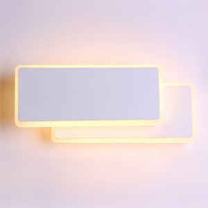 Rotatable LED Wall Sconce Creative 2 Tiers Aluminum Wall Light Study Bedside Lighting