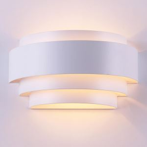Creative Aluminum Wall Sconce Stair Shape Semicircle Wall Light Bedside Study Lighting