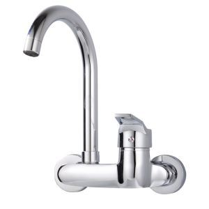 Wall Mount Kitchen Tap Tall Chrome Kitchen Faucet