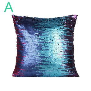 European Fashion Pillow Cover Multicolor Sequin Pillow Case Velvet Cushion