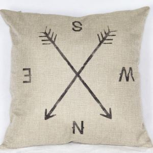 Cozy Soft Pillow Cover Compass Pattern Pillow Case Creative Sofa Cushions