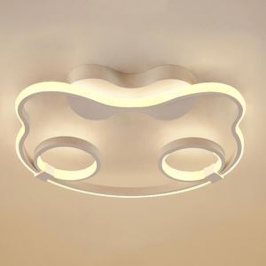 Modern Simple LED Flush Mount Cartoon Cat Ceiling Light Bedroom Kids Room Dining Room LBY18065