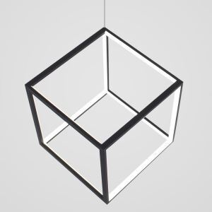 Postmodern LED Pendant Light Geometric Cube Light Creative Black Lighting Bedroom Kids Room Light LBY18069