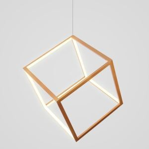Postmodern LED Pendant Light Geometric Cube Light Creative Gold Lighting Bedroom Kids Room Light LBY18070
