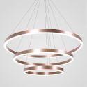 LED Pendant Light Drawing Craft 3 Rings Lamp 80+60+40cm