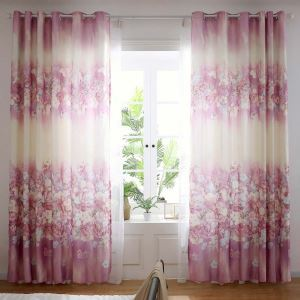Wonderful Flower Printed Curtain Modern Simple Curtain Bedroom Living Room Fabric(One Panel)