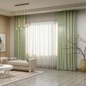 Solid Light Green Curtain Modern Silk Imitation Curtain Living Room Bedroom Blackout Fabric(One Panel)