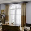 Modern Chenille Curtain Simple Splicing Jacquard Curtain Living Room Bedroom Fabric(One Panel)