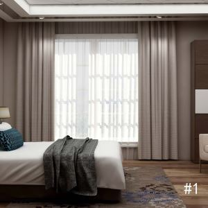 Modern Check Pattern Curtain Simple Breathable Curtain Living Room Bedroom Fabric(One Panel)