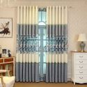 Modern American Chenille Curtain Chinese Embroidery Curtain Living Room Bedroom Nursery Fabric(One Panel)