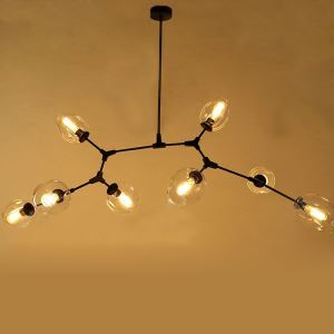American Rural Industrial Retro Style Iron Craft 8 Lights Pendant Light
