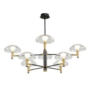 Postmodern LED Pendant Light Mushroom Lampshade Chandelier Living Room Bedroom Lamp QM1805