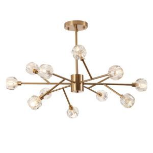 Postmodern Pendant Light Solid Brass Chandelier Nordic Simple Light Bedroom Living Room Lamp QM60013