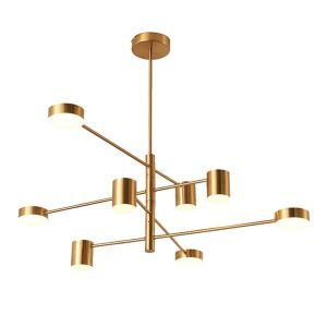 Nordic Creative Chandelier Modern Iron + Acrylic Chandelier Living Room Bedroom Dining Room Light