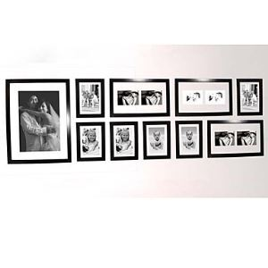 Black Photo Wall Frame set Collection - Set of 10(Pictures Not Included)