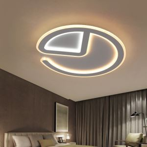 Contemporary Round Flush Mount Simple Acrylic LED Flush Mount Study Bedroom Light