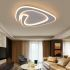 Show details for Triangle Design Flush Mount Modern Acrylic LED Flush Mount Living Room Bedroom Study lighting