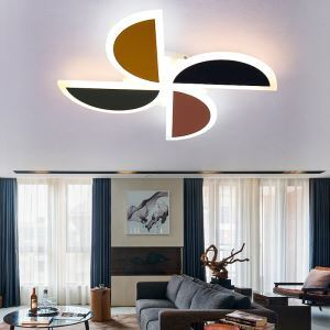 Semicircle Combination Flush Mount Modern Acrylic LED Flush Mount Colorful Kid's Room Lighting
