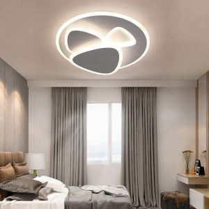 Nordic LED Flush Mount Round Acrylic Flush Mount Living Room Bedroom Study Lighting