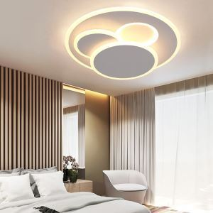 Simple Round Acrylic Flush Mount Modern LED Flush Mount Bedroom Study Lighting