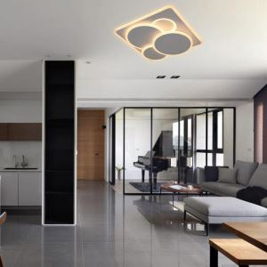 Popular Round LED Flush Mount Modern Creative Flush Mount Living Room Bedroom Balcony Hallway Lighting