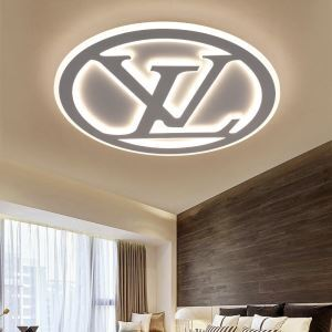 Letters Design Flush Mount Modern Acrylic LED Flush Mount Bedroom Study Lighting