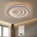 Modern Round LED Flush Mount Circular Lamp Side Illuminating Ceiling Light Hallway Bedroom Light With Remote Control