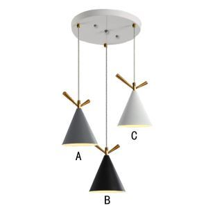 Nordic Pendant Light Simple Chandelier Iron 3 Lights Restaurant Living Room Dining Rroom Lamp QM85033