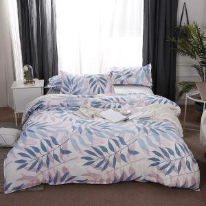 Colorful Leaves Bedding Set Soft Skin-friendly Bedclothes Modern Cotton 4pcs Duvet Cover Set