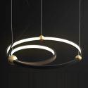 LED Circle Pendant Light Fixture Black 2 Rings MDD172