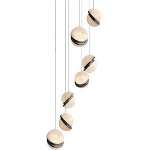 Nordic Simple LED Pendant Light Semi Ball Chandelier Living Room Dining Room Office Loft Light MDD174