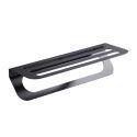 Elegant Black Towel Bar Stainless Steel Towel Rack Modern Bathroom Accessories