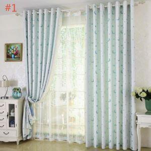 Moon and Star Curtain Modern Jacquard Curtain Nursery Kid's Room Fabric(One Panel
