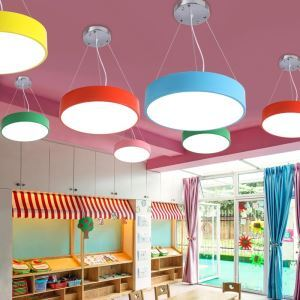 Modern LED Pendant Light Simple Round Light Creative Unique Design Lamp Kids Room Lighting MSXD003