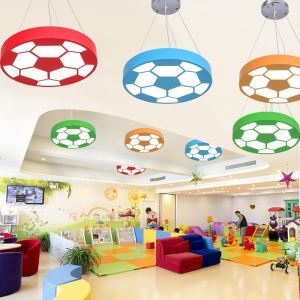 Modern Creative LED Pendant Light Football Lamp Decoration Light Kids Room Lighting MSXD019