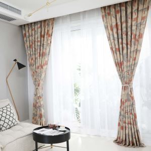Semi Blackout Curtain Ink Painting Printed Curtain Bedroom Living Room Curtain (One Panel)
