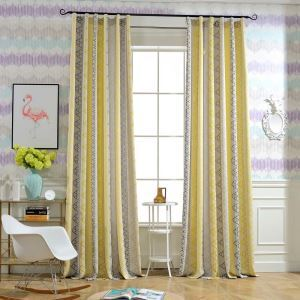 Modern Semi Blackout Curtain Thicken Triangle Jacquard Curtain Living Room Curtain (One Panel)