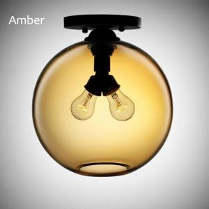 Modern Flush Mount Simple Glass Ceiling Light Circualr Lamp Restroom Hallway Dining Room Light