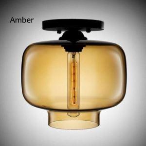Modern Simple Flush Mount Creative Glass Ceiling Light Candy Jar Shape Lamp Dining Room Hallway light
