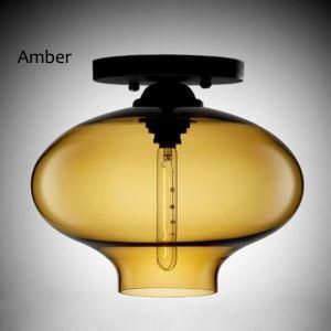 Nordic Flush Mount Creative Glass Ceiling Light Lantern Shape Light Hallway Restaurant Living Room Light