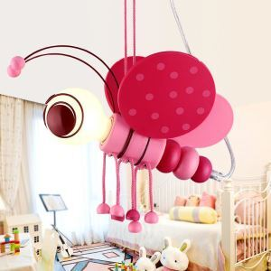 Modern Cartoon LED Pendant Light Simple Bee Lamp Creative Individual Light Kids Room Bedroom Lighting
