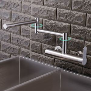 Stair Shape Kitchen Faucet Brushed Nickel 304 Stainless Steel Kitchen Tap