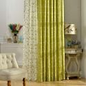 Rural Sheer Curtain Breathable Leaf Embroidery Curtain Living Room Curtain (One Panel)