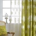 Modern Sheer Curtain  Snowflake Embroidery Curtain Living Room Curtain (One Panel)
