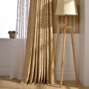 Country Sheer Curtain Modern Breathable Embroidery Curtain Living Room Curtain (One Panel)