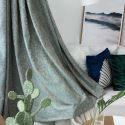 Vintage Luxury Max Blackout Curtain Hi Word Jacquard Curtain Bedroom Curtain (One Panel)