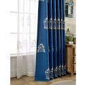 Breathable Sheer Curtain Bird Cage Embroidery Curtain Living Room Curtain (One Panel)